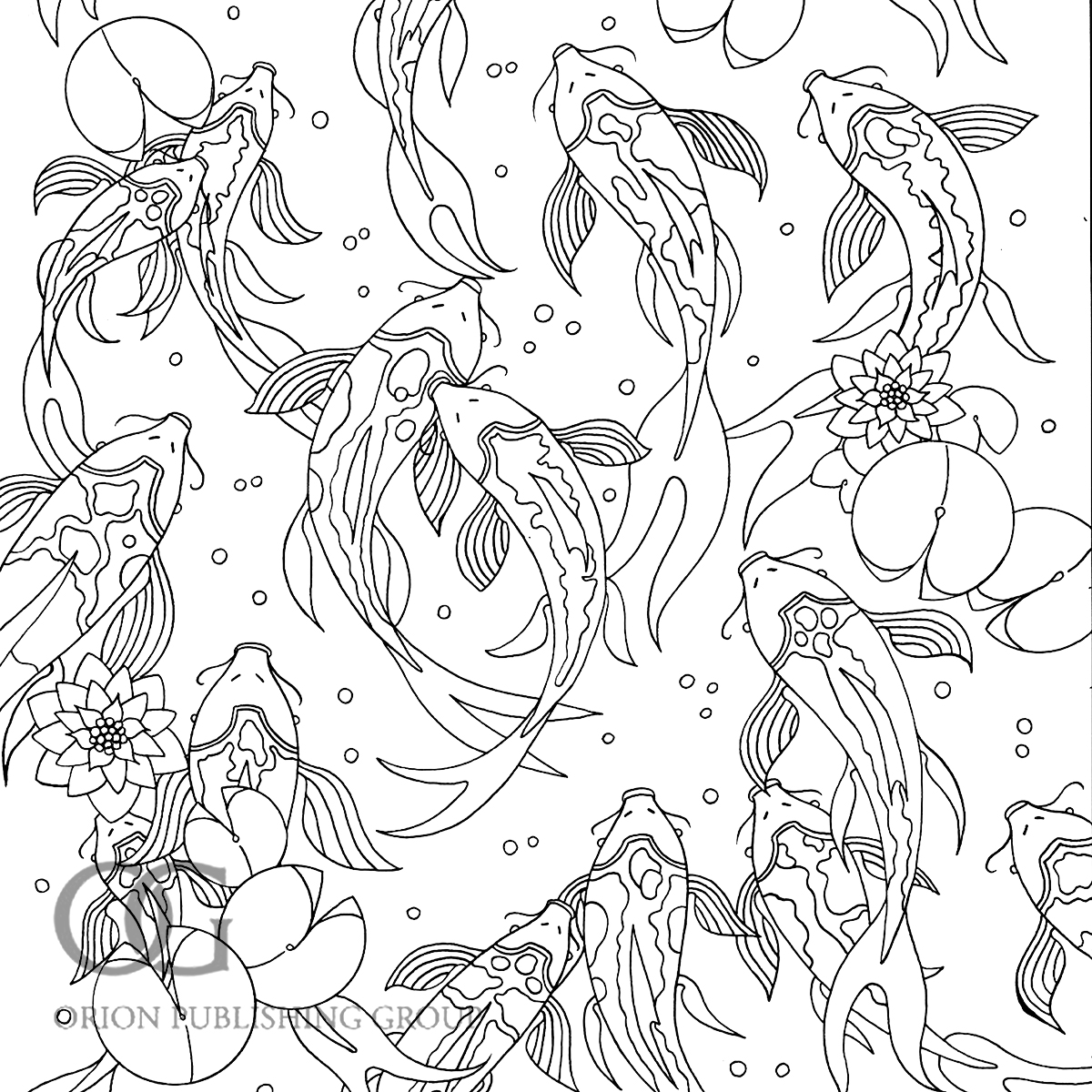 Underwater colouring - You Can Also See Work From My Other Two Books In This Series Colour Me Mindful Birds And Colour Me Mindful Tropical In My Portfolio